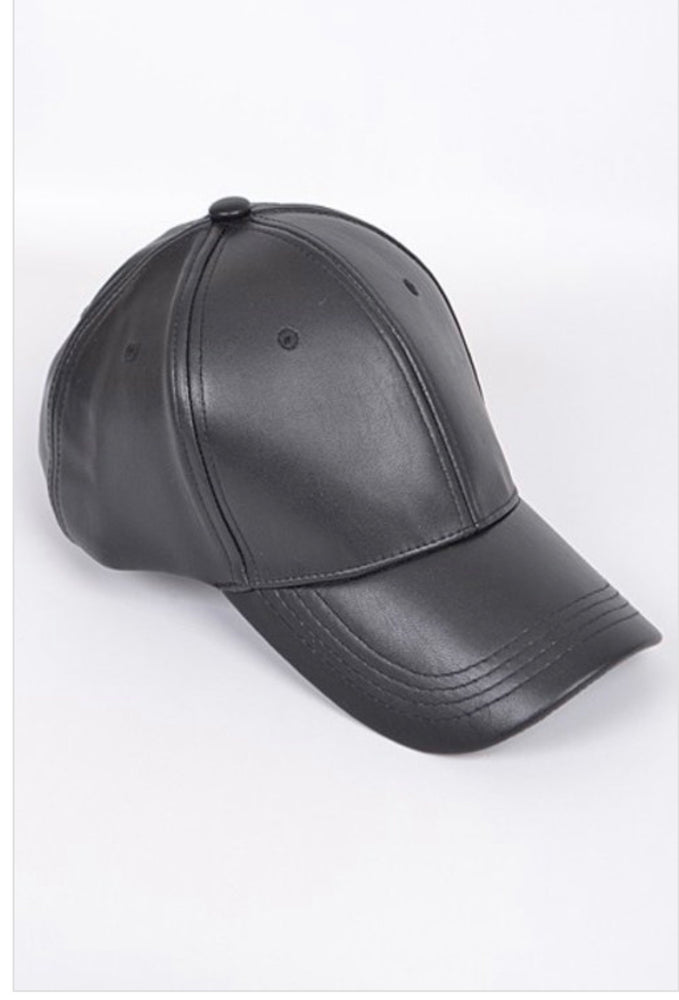 Black Metallic Baseball Cap