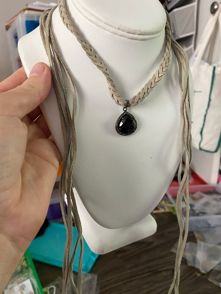 Braided Onyx choker