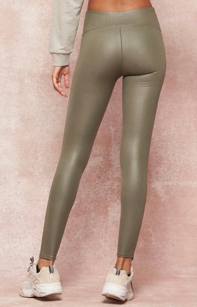Perfectly Pleather Leggings
