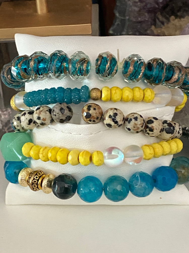 Surfs Up Mega Bracelet Stack | OOAK