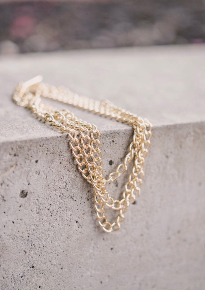 Triple Chain Link Necklace