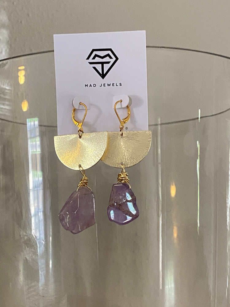 Amethyst Drop Earrings | OOAK