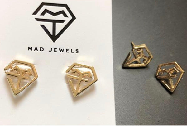 Mad Love Studs | Gold