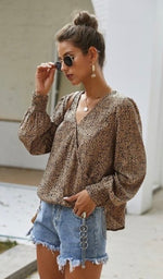 Spotted Drape Blouse