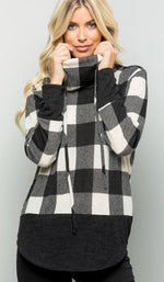 Buffalo Plaid Turtleneck Tunic