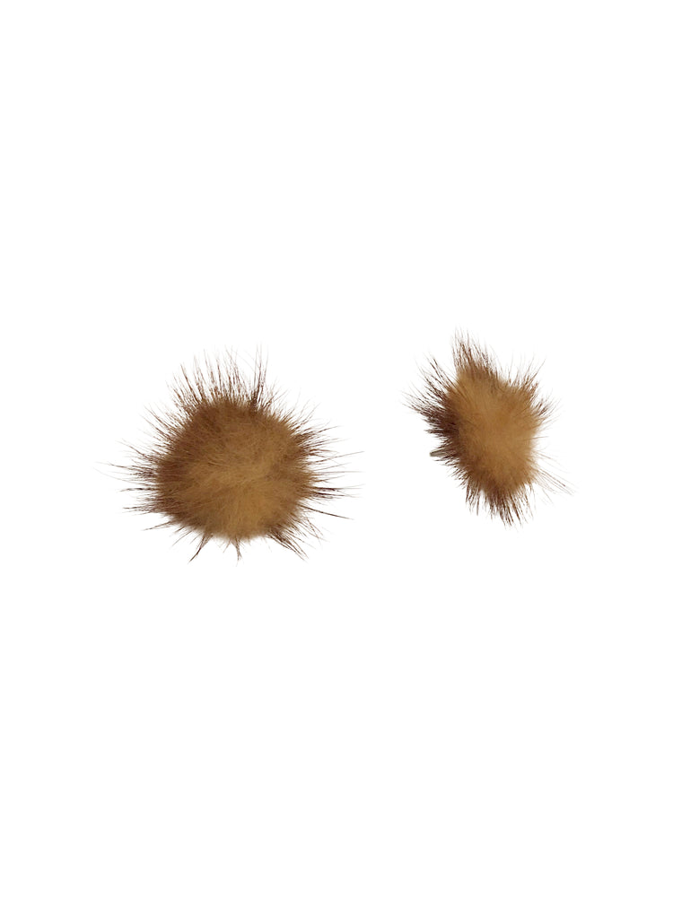 Coco Pom Stud Earrings | Natural