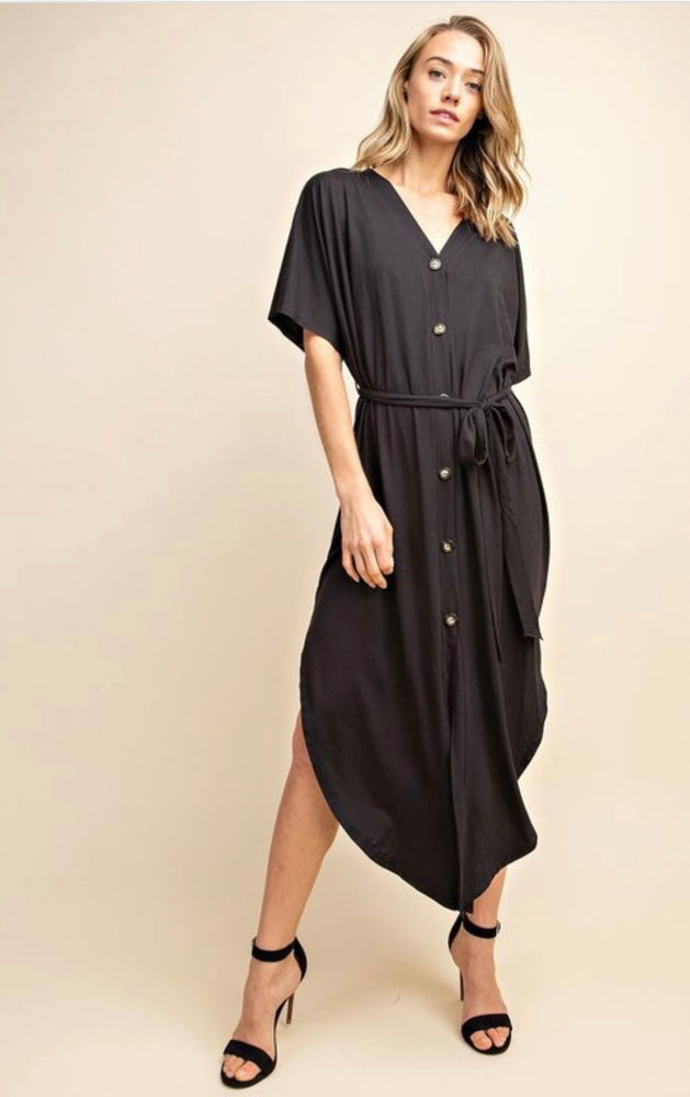 Brunch Babe Button Up Midi Dress