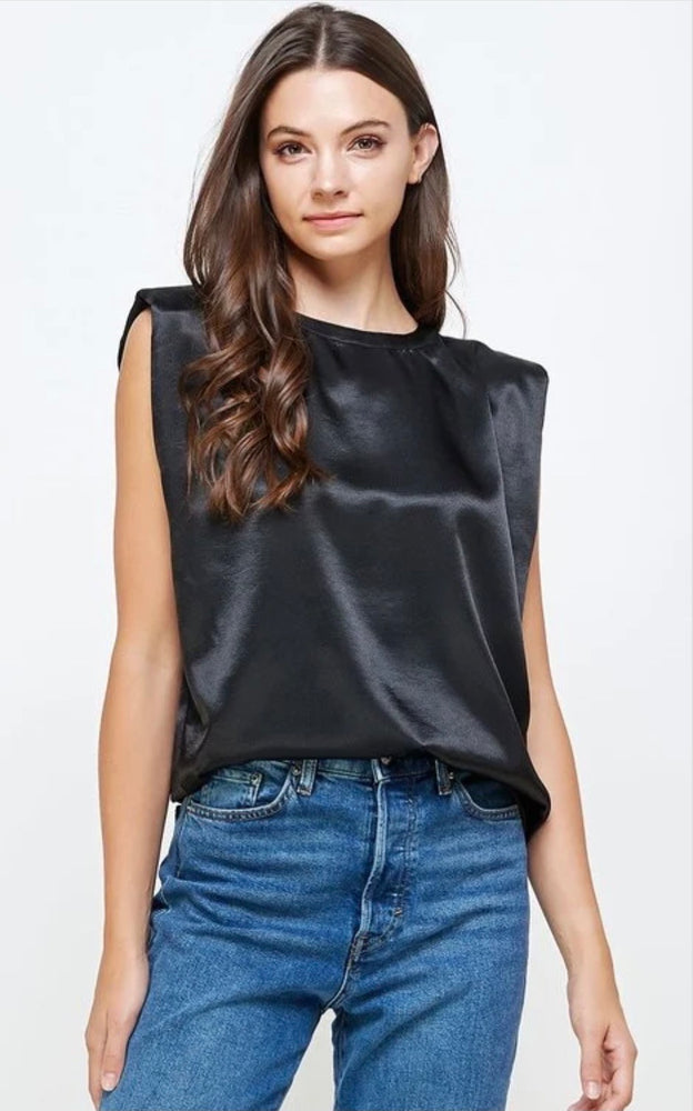 Padded Satin Top