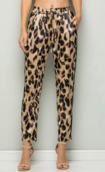 Leopard Sheen Pants