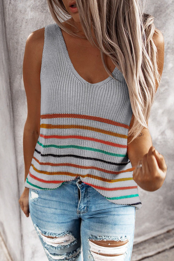 Shay Striped Knit Tank Top