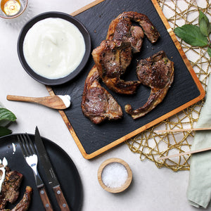 Lamb Chops & Horseradish Yogurt