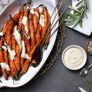 Honey Glazed Carrots with Tahini Yogurt