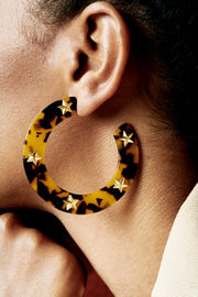 Star Studded Hoops