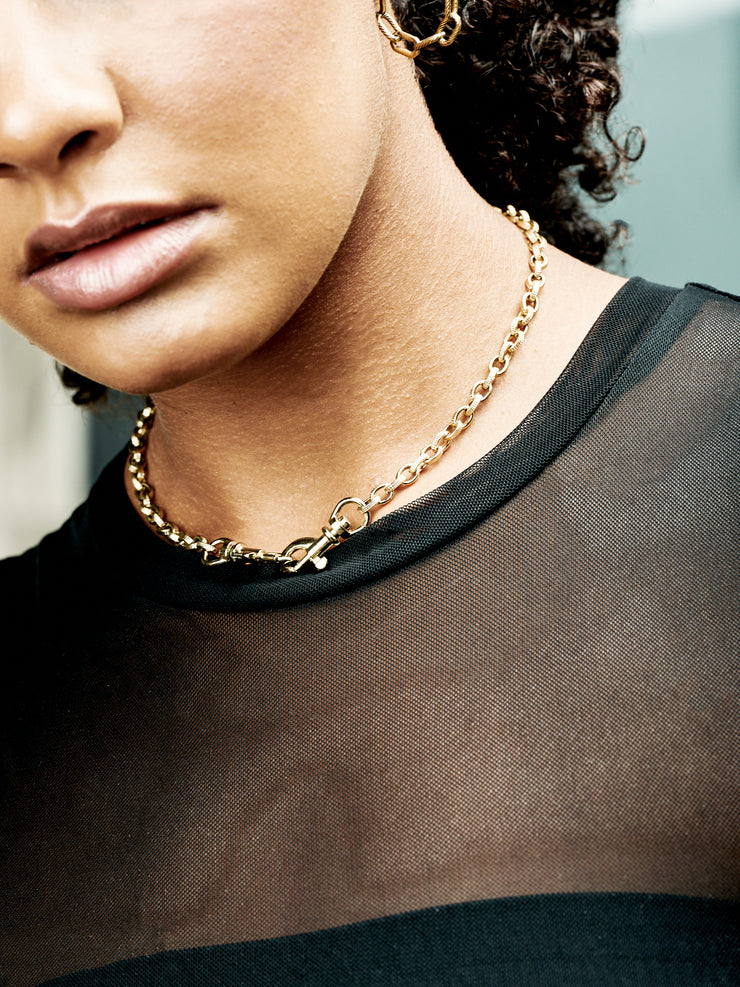 Vintage Rollo Chain Necklace