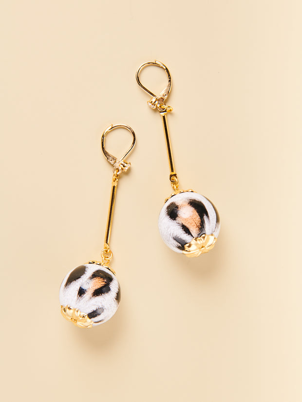 Snow Leopard Bauble Earrings
