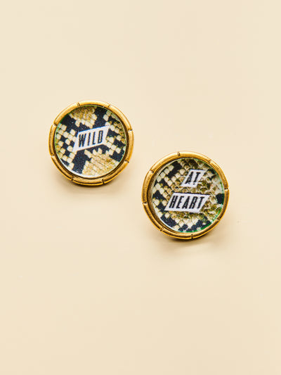 Wild at Heart Post Earrings