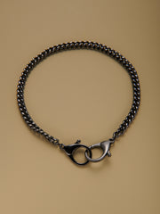 Graphite Double Clasp Necklace Chain