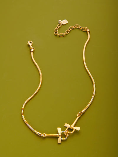 Double Horsebit Necklace Chain