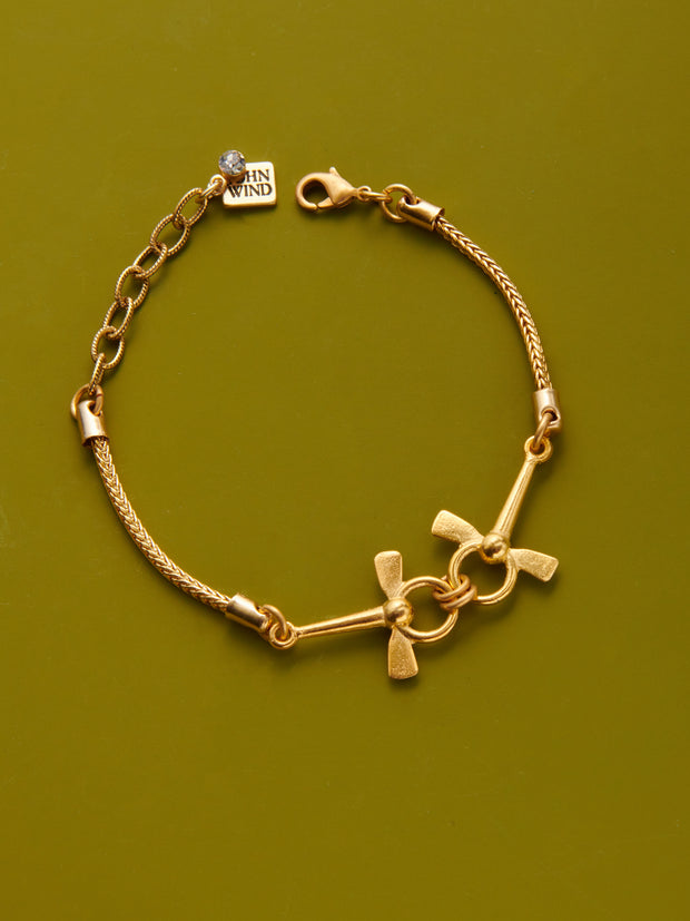 Double Horsebit Chain Bracelet