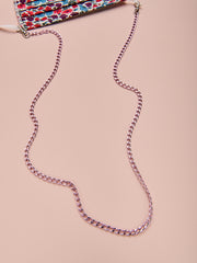 Pink Convertible Mask/Necklace Chain for Breast Cancer Awareness