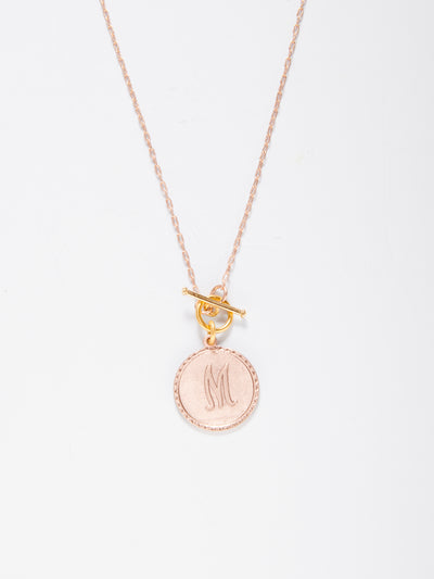 Mini Sorority Gal Initial Toggle Necklace