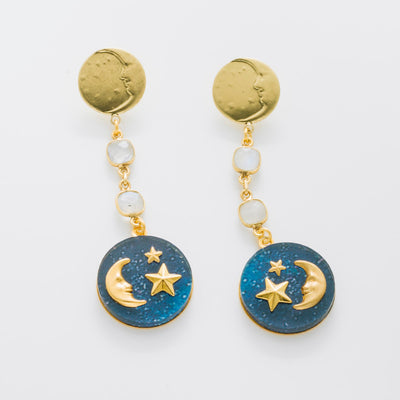 """Reach for the Stars"" Acyrlic Earrings"