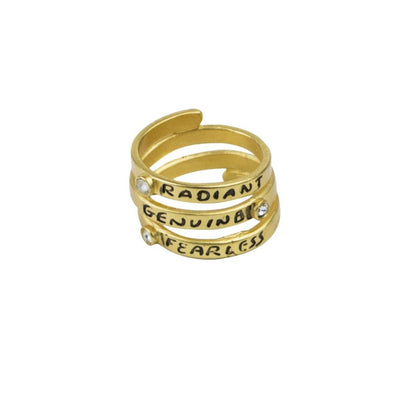 Celebrating Women Sentiment Wrap Ring