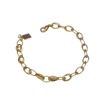 "8"" Adjustable Oval Double Link Bracelet"