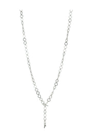 "30"" Etched Round Lariat Necklace"