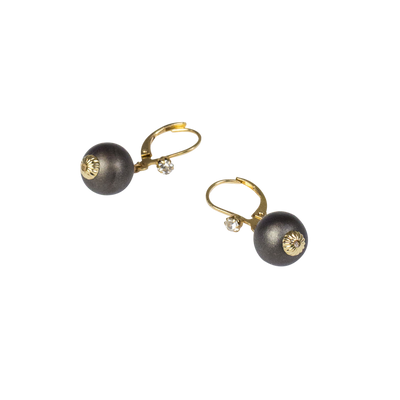 10mm Smoke Pearl Leverback Earring