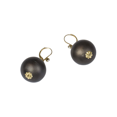 20mm Smoke Pearl Leverback Earring