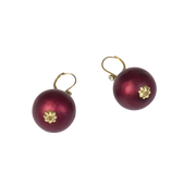 20mm Ruby Pearl Leverback Earring