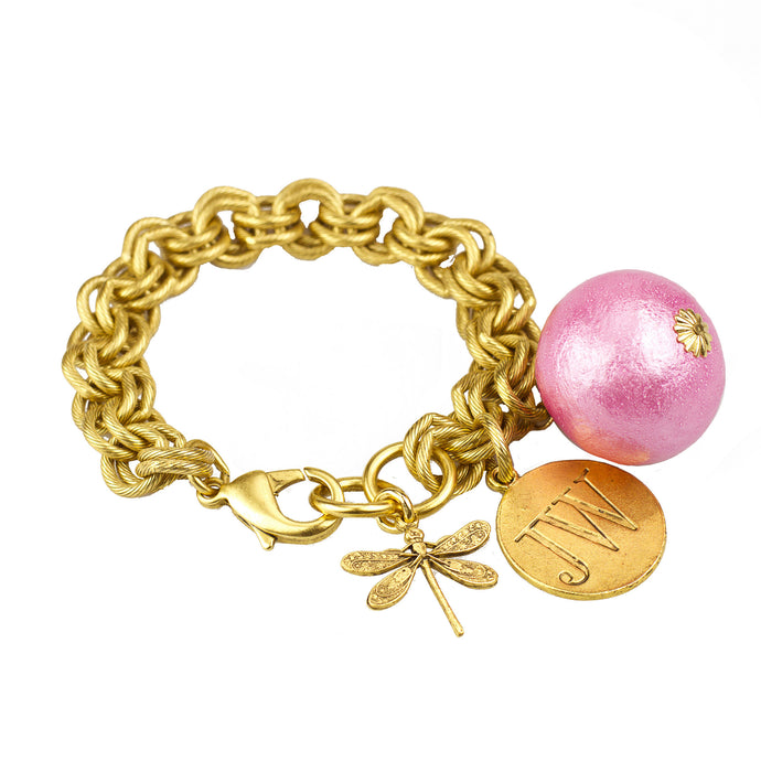 Signature Pink Cotton Pearl Bracelet - John Wind Modern Vintage Jewelry