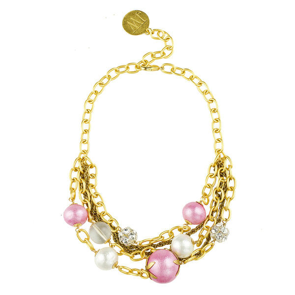 Pink Cotton Pearl Collector's Necklace - John Wind Modern Vintage Jewelry