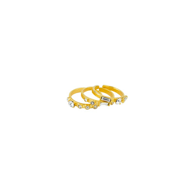 Celebrating Women Stacking Confetti Rings, set of 3