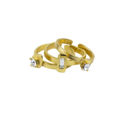 Celebrating Women Geometric Rings, set of 3