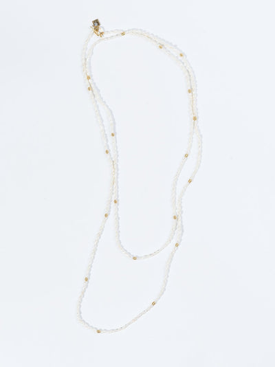 "60"" Satellite Rice Pearl Chain"