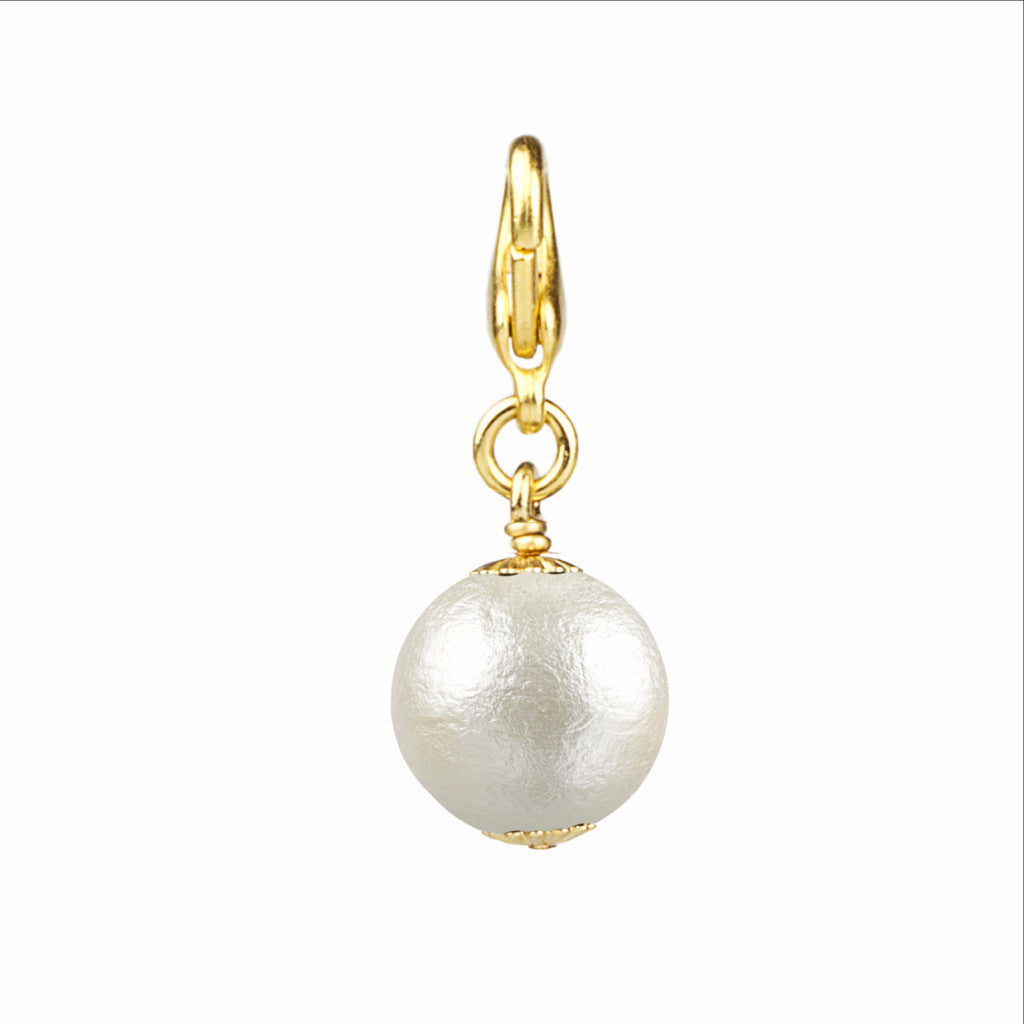 14mm Cotton Pearl Charm - John Wind Modern Vintage Jewelry - 1