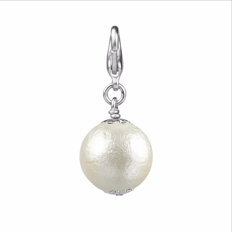 14mm Cotton Pearl Charm - John Wind Modern Vintage Jewelry - 2