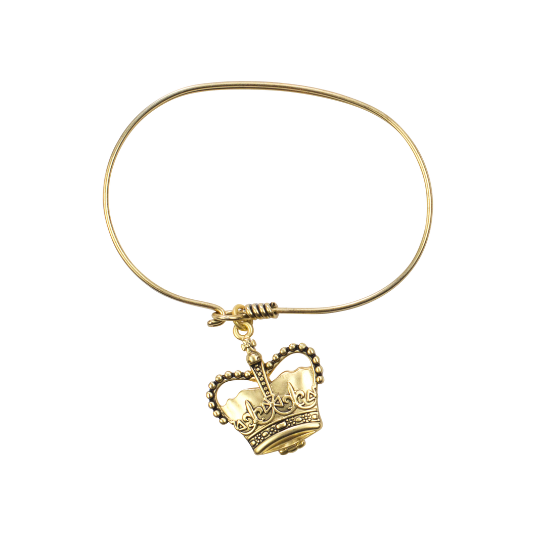 Crown Locket Bangle, Gold