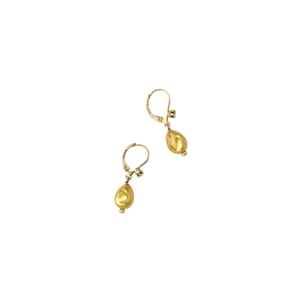 "1"" Petite Gold Baroque Pearl Earring"