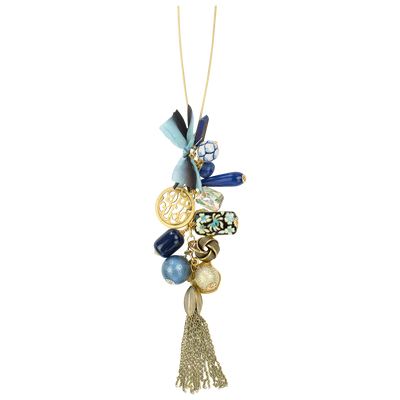 "32"" Limited Edition Blue Long Cluster Necklace"