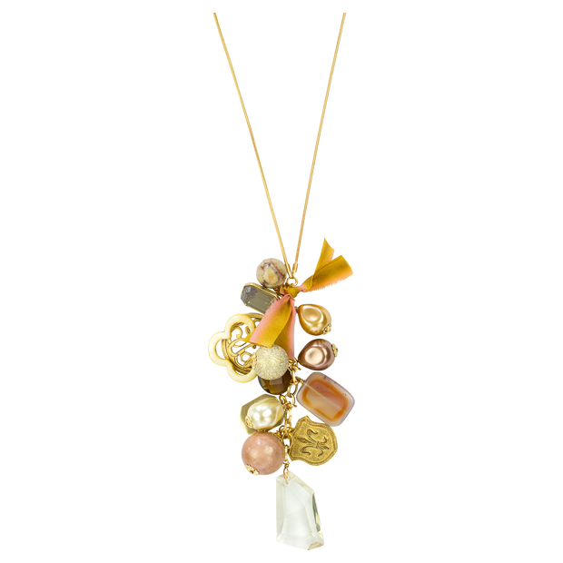 "32"" Limited Edition Golden Long Cluster Necklace"