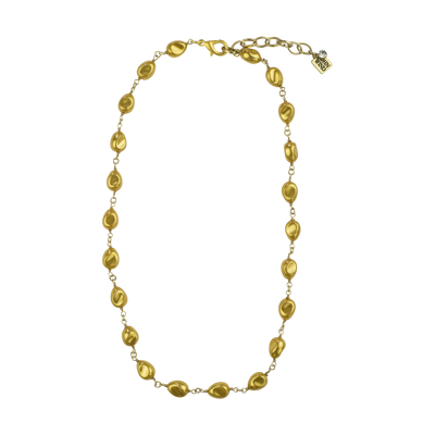 "18"" Petite Gold Baroque Pearl Necklace"
