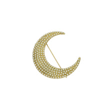"2.25"" Pearl Crescent Moon Brooch - John Wind Modern Vintage Jewelry - 2"