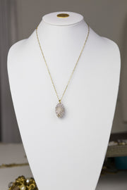Pavé Pendulum Necklace & Earring Set