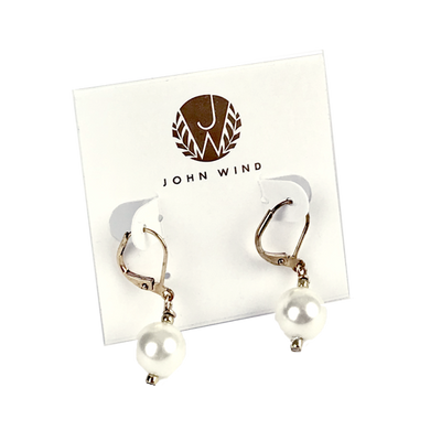 14mm Knotted Pearl Earrings