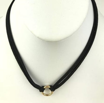 "16"" Vegan Suede Adjustable Choker"