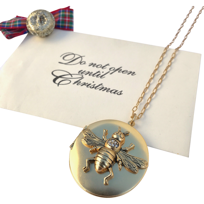 Gift #10: Bee Locket Necklace with 2