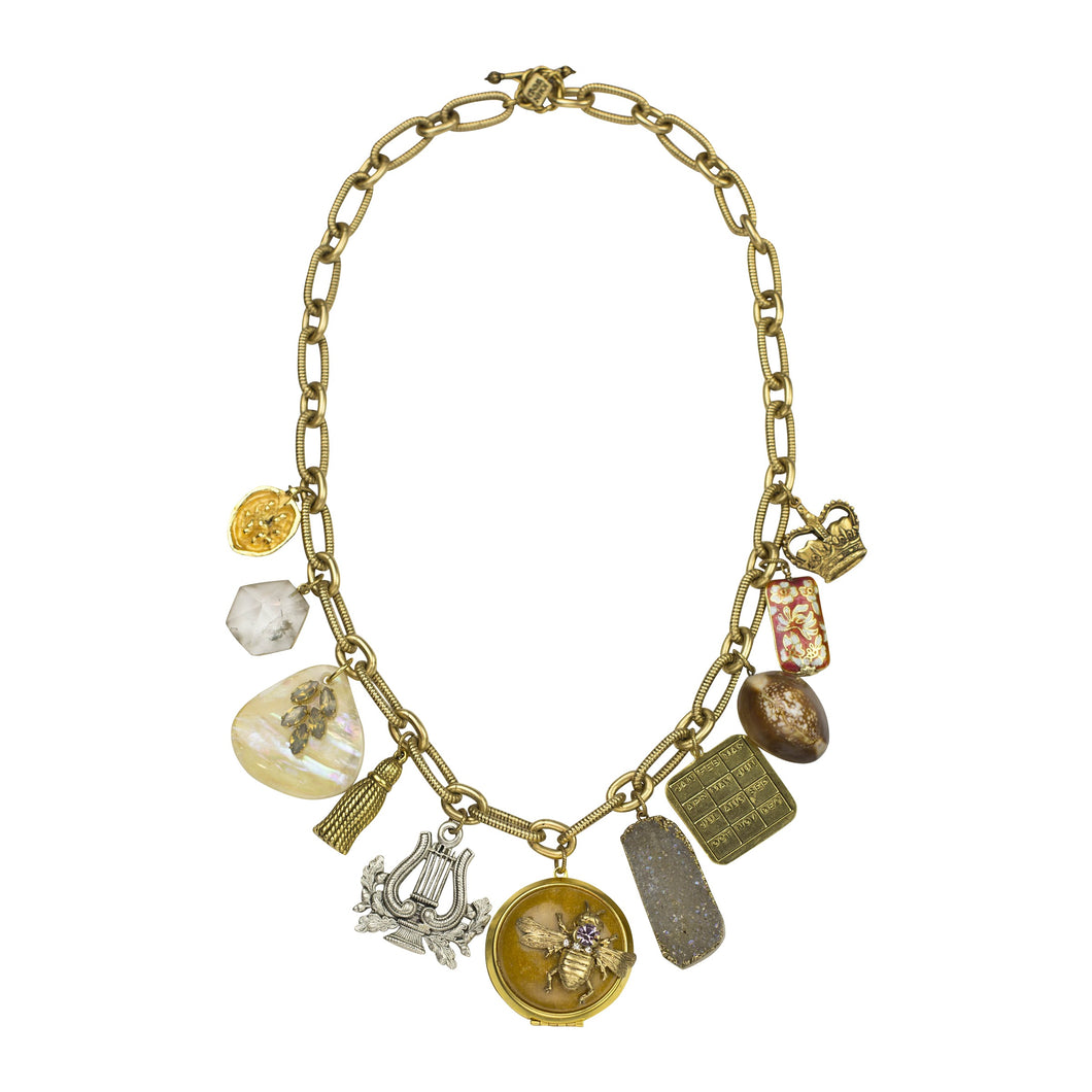 "Bee Jeweled 24.5"" Adjustable Charm Necklace"